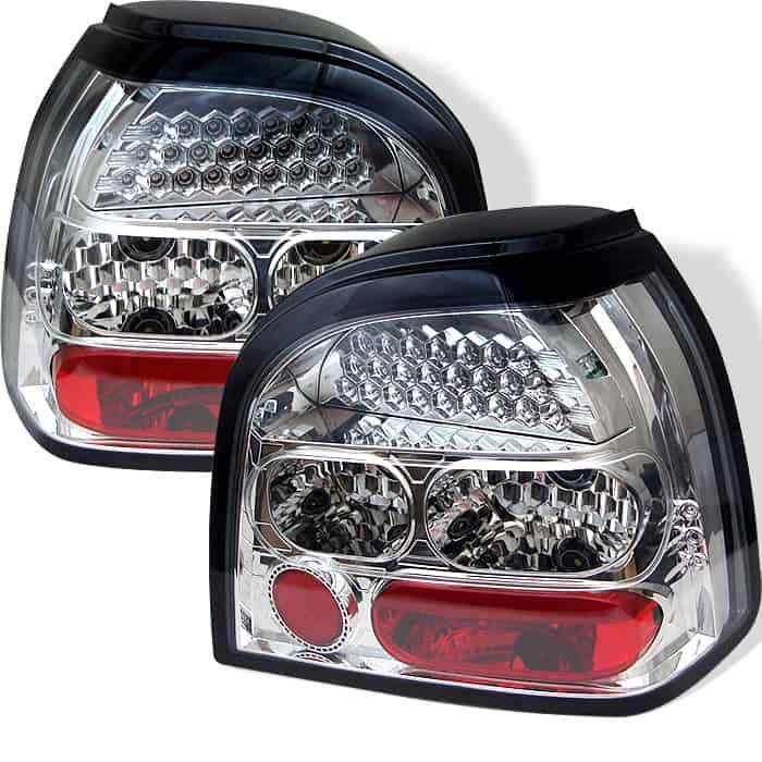 93-98 Volkswagen Golf LED Altezza Tail Lights - Chrome