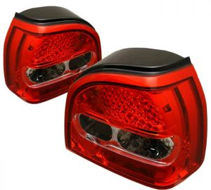 93-98 Volkswagen Golf LED Altezza Tail Lights – Red Clear