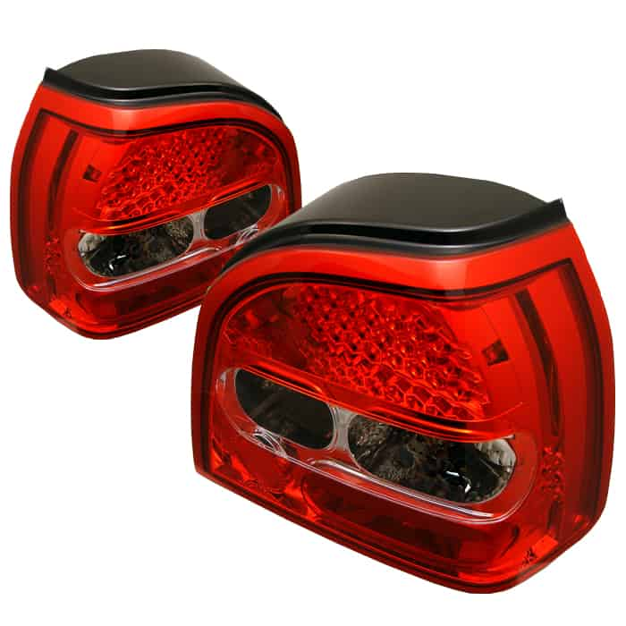 93-98 Volkswagen Golf LED Altezza Tail Lights - Red Clear