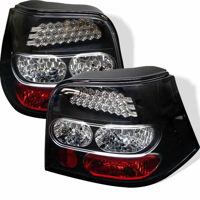 99-04 Volkswagen Golf LED Altezza Tail Lights - Black