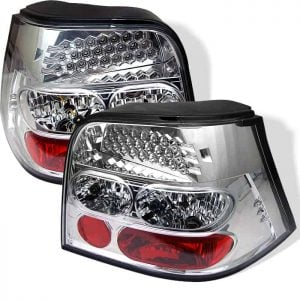 99-04 Volkswagen Golf LED Altezza Tail Lights – Chrome
