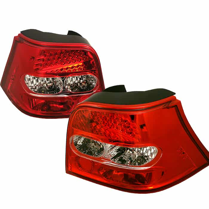 99-04 Volkswagen Golf LED Altezza Tail Lights - Red Clear