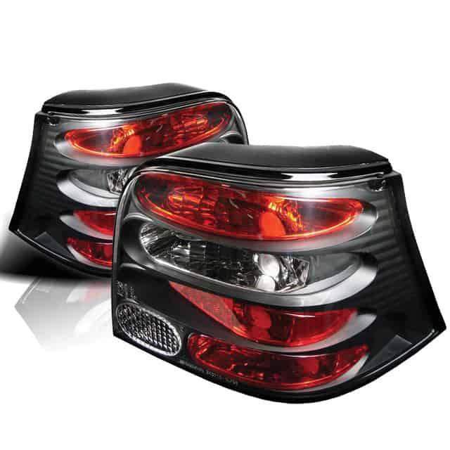 99-04 Volkswagen Golf Altezza Tail Lights - Black