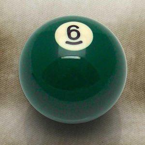 6 Ball Billiard Pool Custom Shift Knob