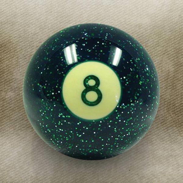 Green 8 Ball Custom Shift Knob with Metal Flake