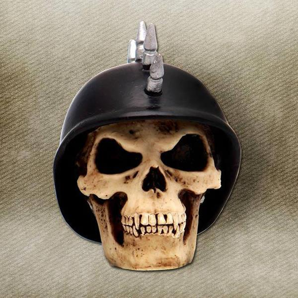Mohawk German Helmet Skull Custom Shift Knob and Topper