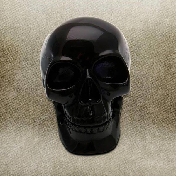 Crystal Black Skull Custom Shift Knob
