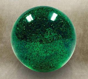 Green Sparkle Old Skool Custom Shift Knob with Metal Flake