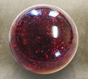 Red Sparkle Old Skool Custom Shift Knob with Metal Flake