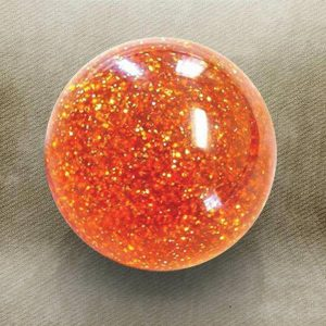 Orange Sparkle Old Skool Custom Shift Knob with Metal Flake