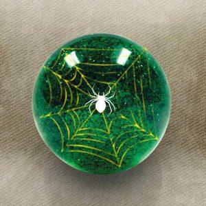 Green Spider Custom Shift Knob with Metal Flake