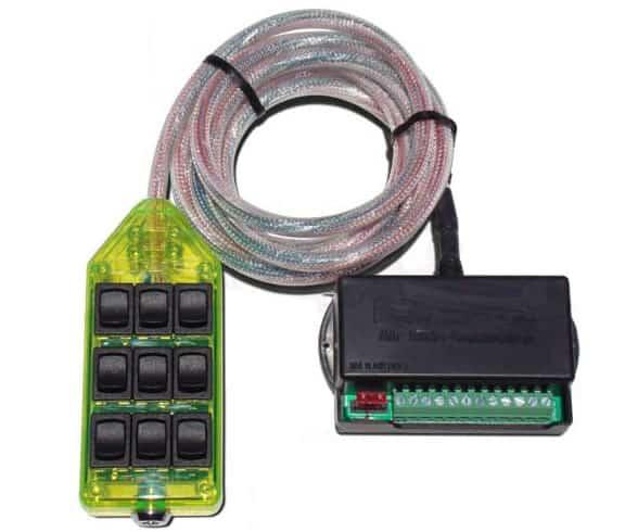 9-ROCKER Universal Air Ride Switch Controller - Green
