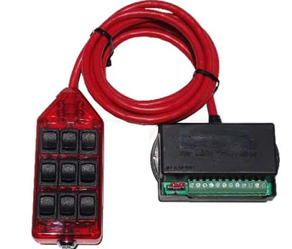 9-ROCKER Universal Air Ride Switch Controller - Red