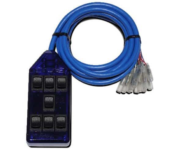 7-ROCKER Universal Air Ride Switch Controller - Blue