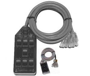 7-ROCKER Universal Air Ride Switch Controller – Clear