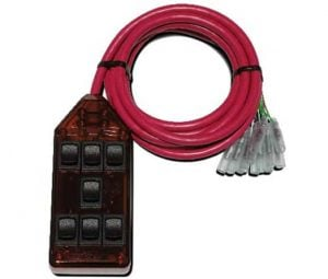 7-ROCKER Universal Air Ride Switch Controller – Red