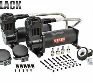 Dual 1/4HP VIAIR 444C Compressor Combo Kit (200psi) – Black