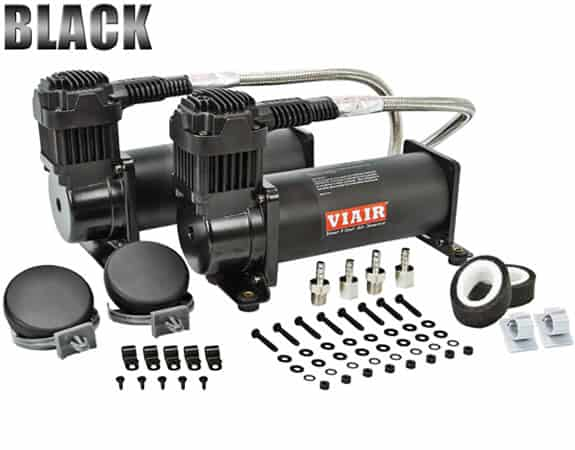 Dual 1/4HP VIAIR 444C Compressor Combo Kit (200psi) - Black