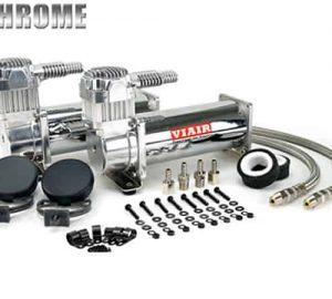 Dual 1/4HP VIAIR 444C Compressor Combo Kit (200psi) – Chrome