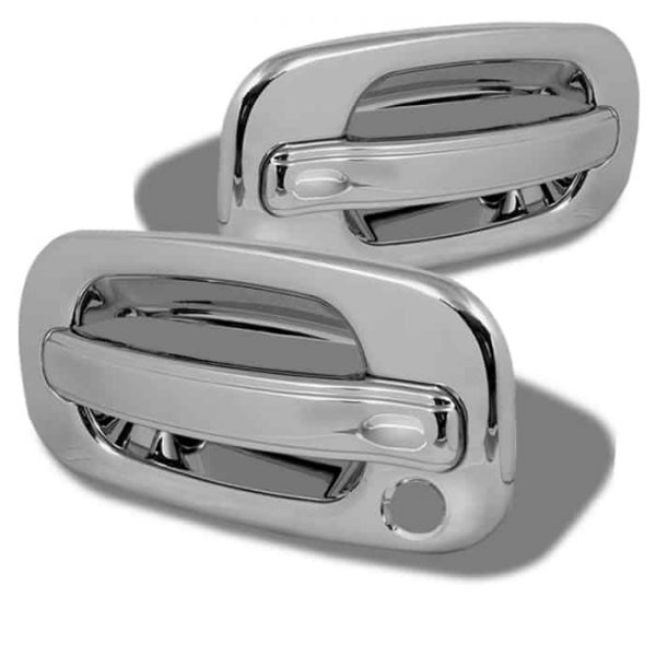 99-06 Chevy Silverado 2Dr / 99-06 GMC Sierra 2Dr Door Handle No PSKH – Chrome