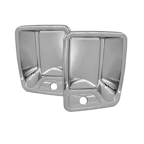 99-12 Ford Super Duty F250, F350, F450 2Dr Door Handle Cover w/PSKH - Chrome