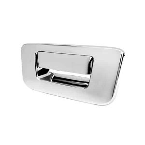 07-12 Chevy Silverado / 07-12 GMC Sierra Tailgate Handle Cover No Camera Hole – Chrome