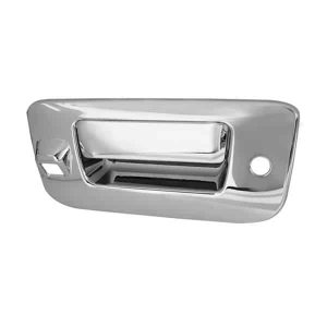 07-12 Chevy Silverado / 07-12 GMC Sierra Tailgate Handle Cover w/ Camera Hole – Chrome