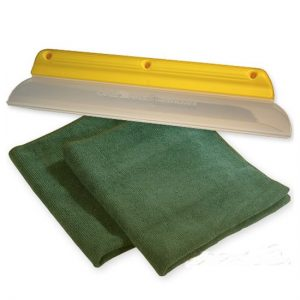 California Water Blade 14 Inch & Microfiber Towel Combo