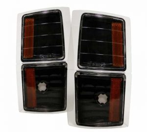 1994-1998 GMC C/K Amber 4 PC Corner Lights – Black