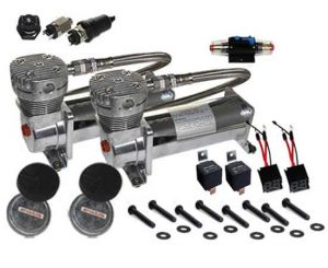Dual 1/3HP Vi-Clone DC480 Compressor Combo Kit (230psi) – Chrome