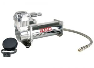 Single 1/4HP VIAIR 444C Compressor Kit (200psi) – Chrome
