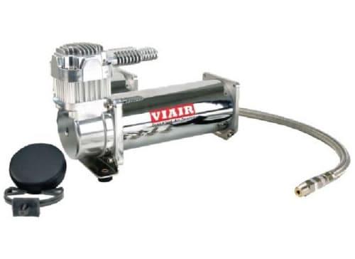 Single 1/4HP VIAIR 444C Compressor Kit (200psi) - Chrome