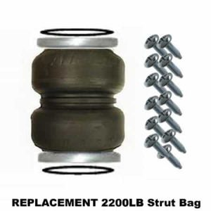 2200lb Double Bellow Bags, Plates, Seals and Screws (Bare) – Replacement Strut Air Bag/Spring