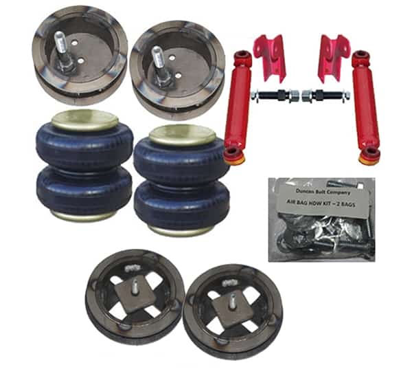 2003-2010 Dodge Ram 2WD only 2500/3500 Front Air Suspension Kit , HD Bags / Custom Brackets (no fittings)