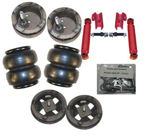 1994-2002 Dodge Ram 2WD only 2500/3500 Front Air Suspension Kit , Bags / Custom Brackets (no fittings)