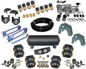 FULL SIZE Car OR Truck EXTREME FBSS Air Suspension Kit With 4 Links,  Panhard Bar & Frame Bridge