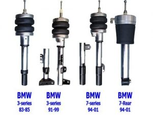 1994-2001 BMW 740I E38 7 Series Front Air Suspension Kit , Strut Kit (no fittings)