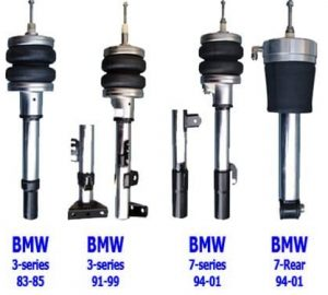 2004-2007 BMW 5 Series E60 (NON-FACTORY AIR) Front Air Suspension Kit , Strut Kit (no fittings)