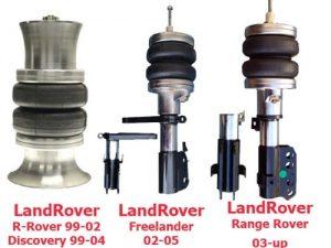 1995-2002 Land Rover Range Rover Front Air Suspension, Custom Bag / Bracket (no fittings)