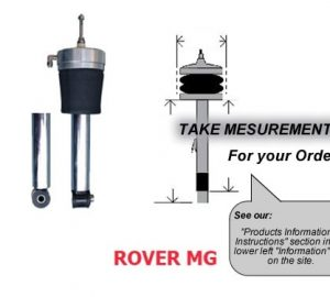 2000-2006 Mg Rover 160ZR, 418 Front Air Suspension, Strut Sleeve Kit (no fittings)
