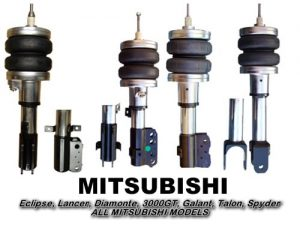 1990-1994 Mitsubishi Eclipse, Talon, Laser Front Air Suspension, Strut Kit (no fittings)