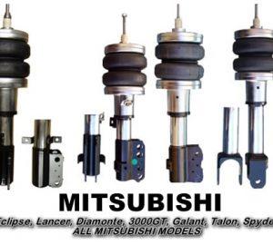 1989-1993 Mitsubishi Galant Front Air Suspension, Strut Kit (no fittings)