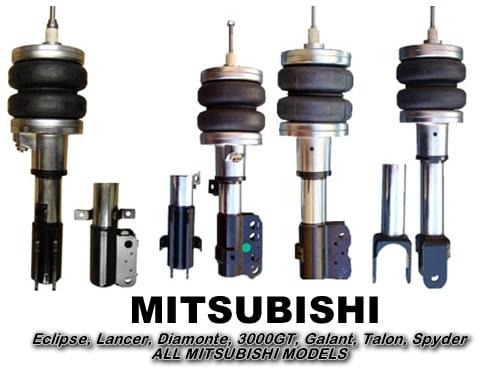 1993-1996 Mitsubishi Mirage, Eagle, Summit, Colt Front Air Suspension, Strut Kit (no fittings)