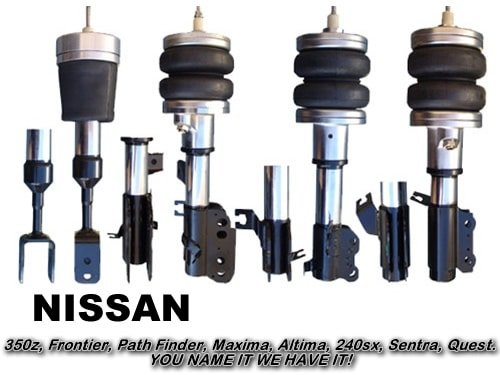 1989-1994 Nissan 240SX, S13, 180SX, Silvia Front Air Suspension, Strut Kit (no fittings)