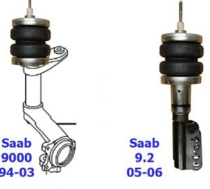 1994-2003 Saab 9000 9-3, Saab Front Air Suspension, Strut Kit (no fittings)