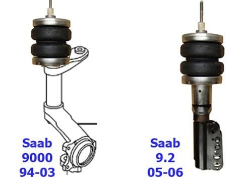 1997-2010 SAAB 9-5 Front Air Suspension, Strut Kit (no fittings)