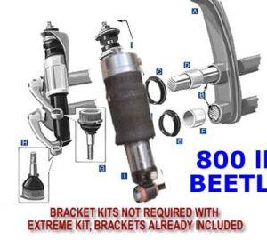1965-1977 Volkswagen Beetle Front Air Suspension, 800lb Strut Kit (no fittings)
