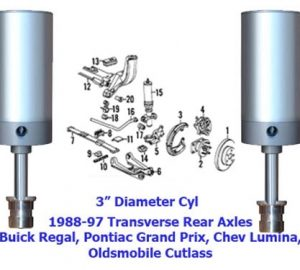 1986-1991 Cadillac Eldorado, Seville Rear Air Suspension, Custom Transverse Leaf Kit (no fittings)
