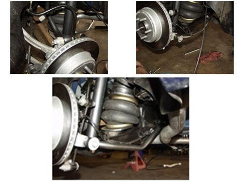 2005-2006 Dodge Magnum Rear Air Suspension, Custom Arm / Bracket Kit (no fittings)