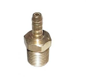 Brass 1/4″ NPT Male to 1/4″ Male Barbed Hose Push-On Air Fitting